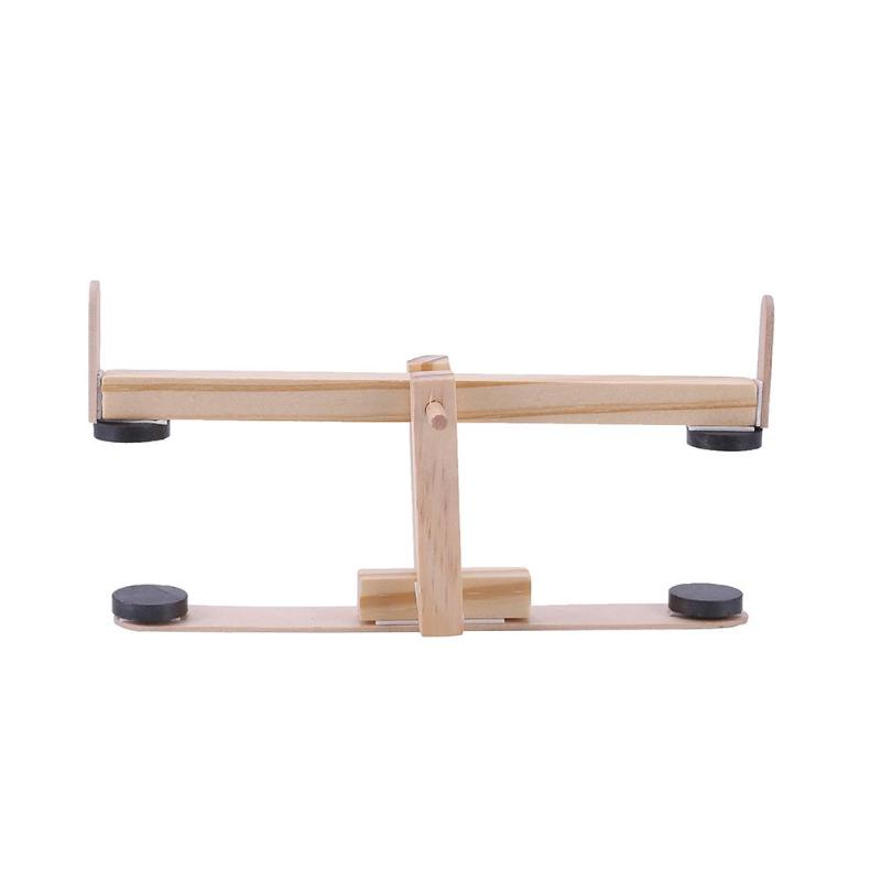 Us 456 30 Off2018 New Funny Diy Seesaw Model Kit Wood Science Experiment Toys For Kids Creative Educational Learning Gifts For Baby Toys In Model