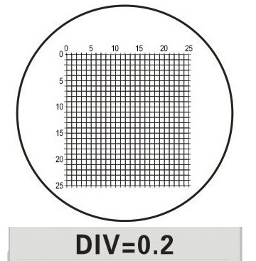 DIV 0.2MM Microscope Eyepiece Micrometer Calibration Slide