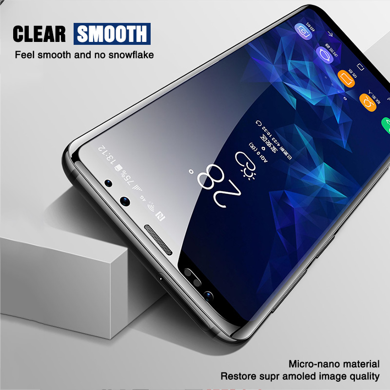 Image 3 - 111D Full Curved Protective glass on for Samsung Galaxy S8 S9 S6 S7 edge Plus Screen Protector Tempered Glass on Note 8 9 Film-in Phone Screen Protectors from Cellphones & Telecommunications