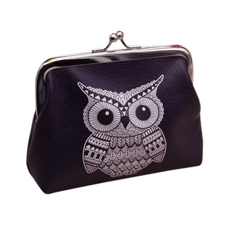 Fashionable modern lady women Coin Purses Womens Owl Wallet Card Holder Coin Purse Clutch Handbag hot sale women's purse 2017 hot sale women fashion leather wallet zipper clutch purse lady long handbag bag coin purses wholesale de13