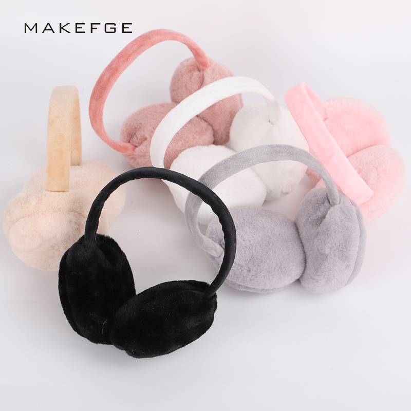 Hot Winter Adult Solid Color Earmuffs Ma