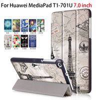 Fashion For Huawei T1 7 0 T1 701u PU Leather Cover Case Funda For Huawei MediaPad