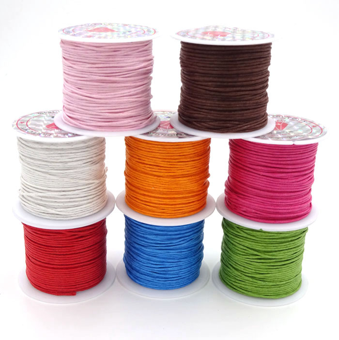 1.0mm 10m Roll Waxed Cord For Bracelet And Necklace Making Wax Cordones...