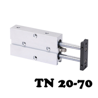 TN20 70 high quality double shaft double rod piston cylinder, cylinder TN double action pneumatic valve 20mm hole 70mm stroke.