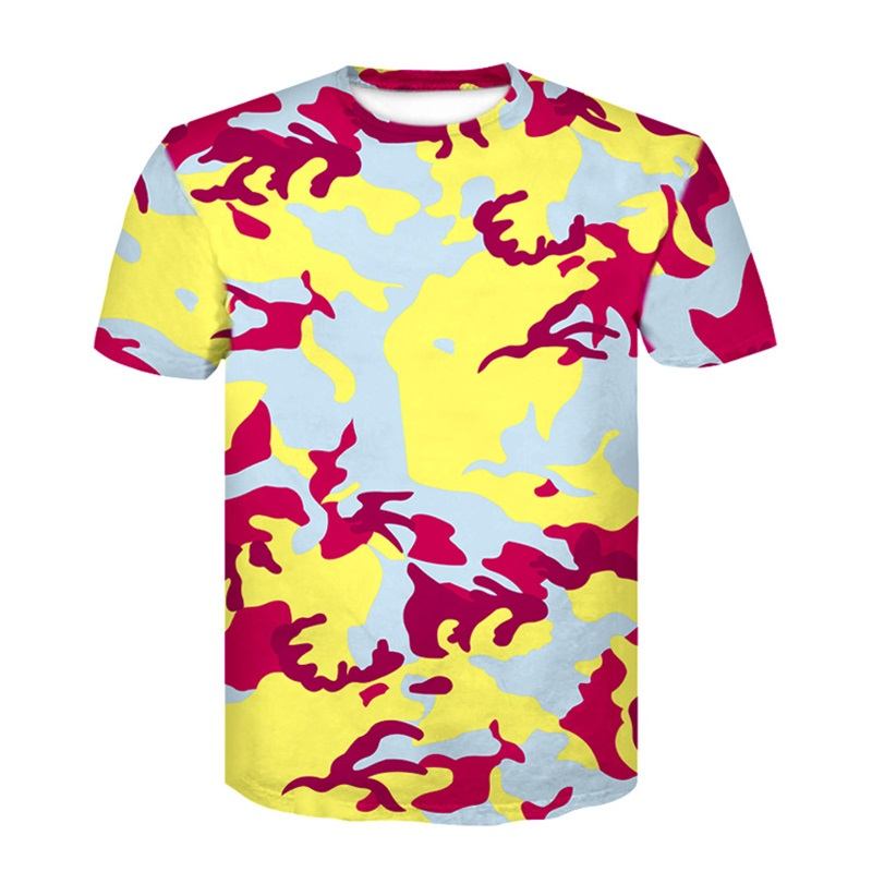 Camouflage T-shirt Men/Women  T shirts 3d T shirt Army Fashion Tops Tees Summer Shirts Hombres Camisetas