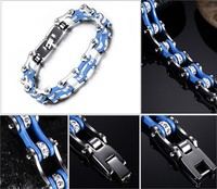 TB1 For K The New Jewelry Bicycle Chain Bracelet The Blue And White Bracelet Men S