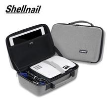 Shellnail LED Proyector حقيبة ل Xgimi Z3 GP70 AKEY1 C80 Mini دعم معظم العارض اكسسوارات واقية المحمولة حقيبة