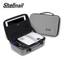 Shellnail LED Proyector תיק עבור Xgimi Z3 GP70 AKEY1 C80 מיני תמיכה ביותר מקרן אביזרי מגן נייד תיק