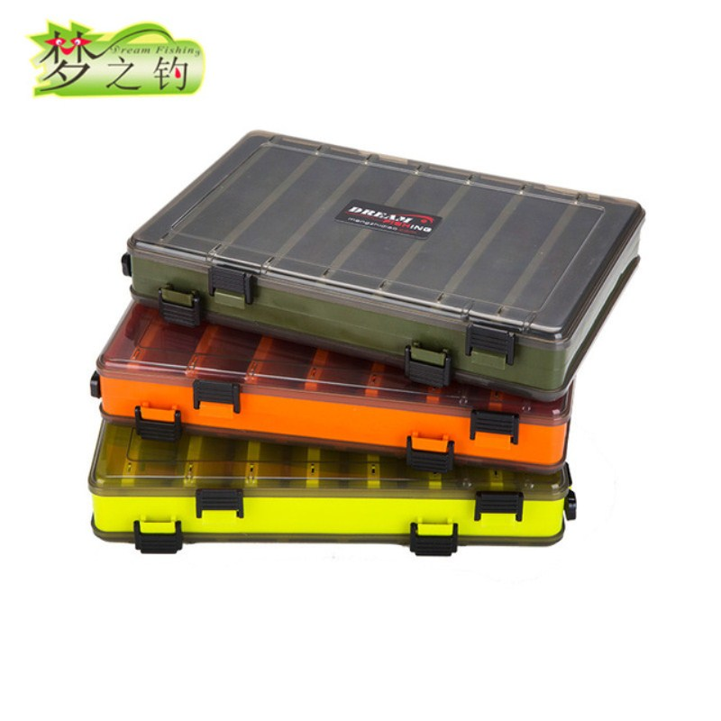 DREAM FISHING 27x18x4.3cm/27x18x4.8cm Fishing Lures Box For Fishing Lure Hook Accessories Small Tools Bait Fishing Porta Joias|Fishing Tackle Boxes| |  - title=