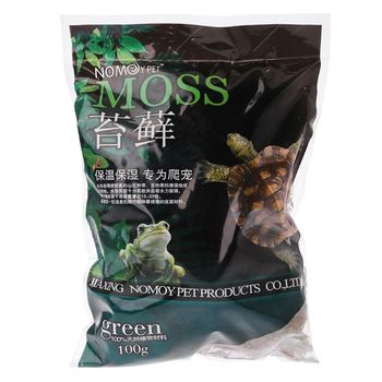 Free delivery 100g Natural Terrarium Moss Reptile Turtle Moss Substrate Habitat Decoration 1