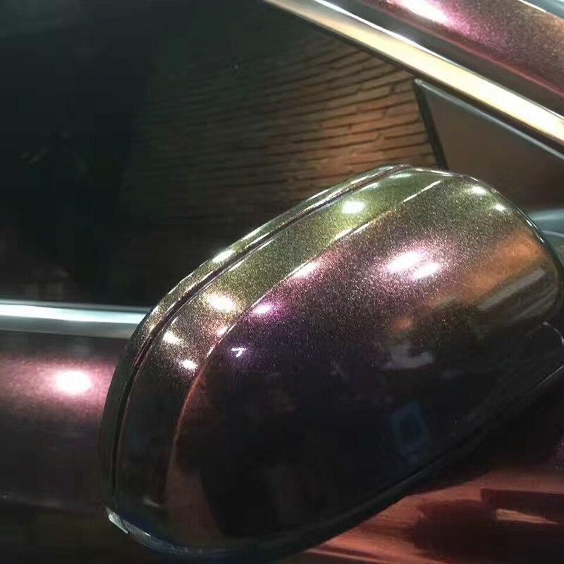 TSAUTOP 1,52X18 м пузырьки без воздуха жемчуг-Хамелеон металлическая пленка глянцевая/natte блеск автомобиля обертывание темно-красновато-фиолетовый цвет
