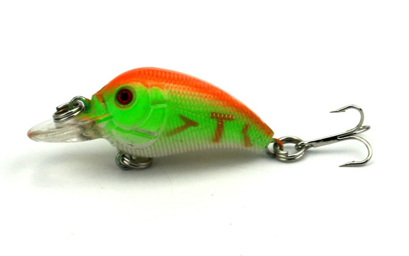 1x 4.5cm 4.2g Mini Fishing Lures Crank Baits 3d Fish Eye Simulation Minnow Crankbait Hard Plastic Laser Lure Bait Low Price (10)