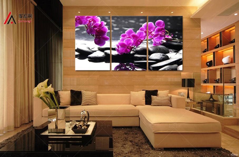 3 Pieces home decoration artwork modular pictures pebbles and orchid - Home Decor - Photo 3