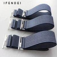 IFENDEI Female Belt Fashion Striped Elastic Waistband Simple Wild Waist Belt Girdle Jeans 4cm Width Cintos