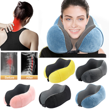 Urijk u-образная подушка для шеи для самолета, надувная подушка с эффектом памяти, подушка для шеи, Шейное медицинское постельное белье, Прямая поставка