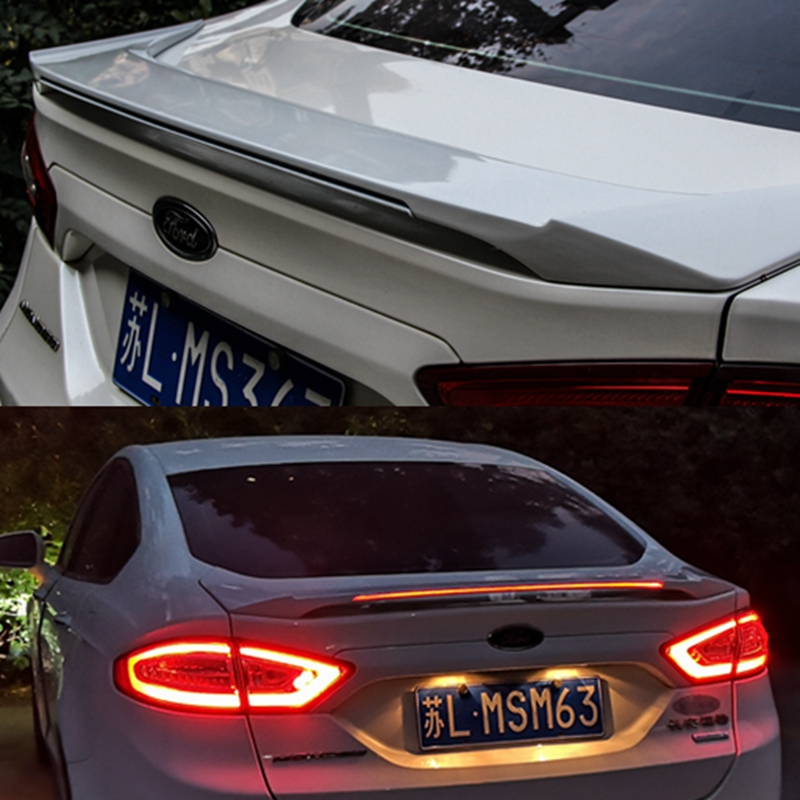 For Ford Mondeo/Fusion Car Decoration 2013 2014 2015 2016 2017 ABS Plastic Paint Painting Color Rear LED Spoiler