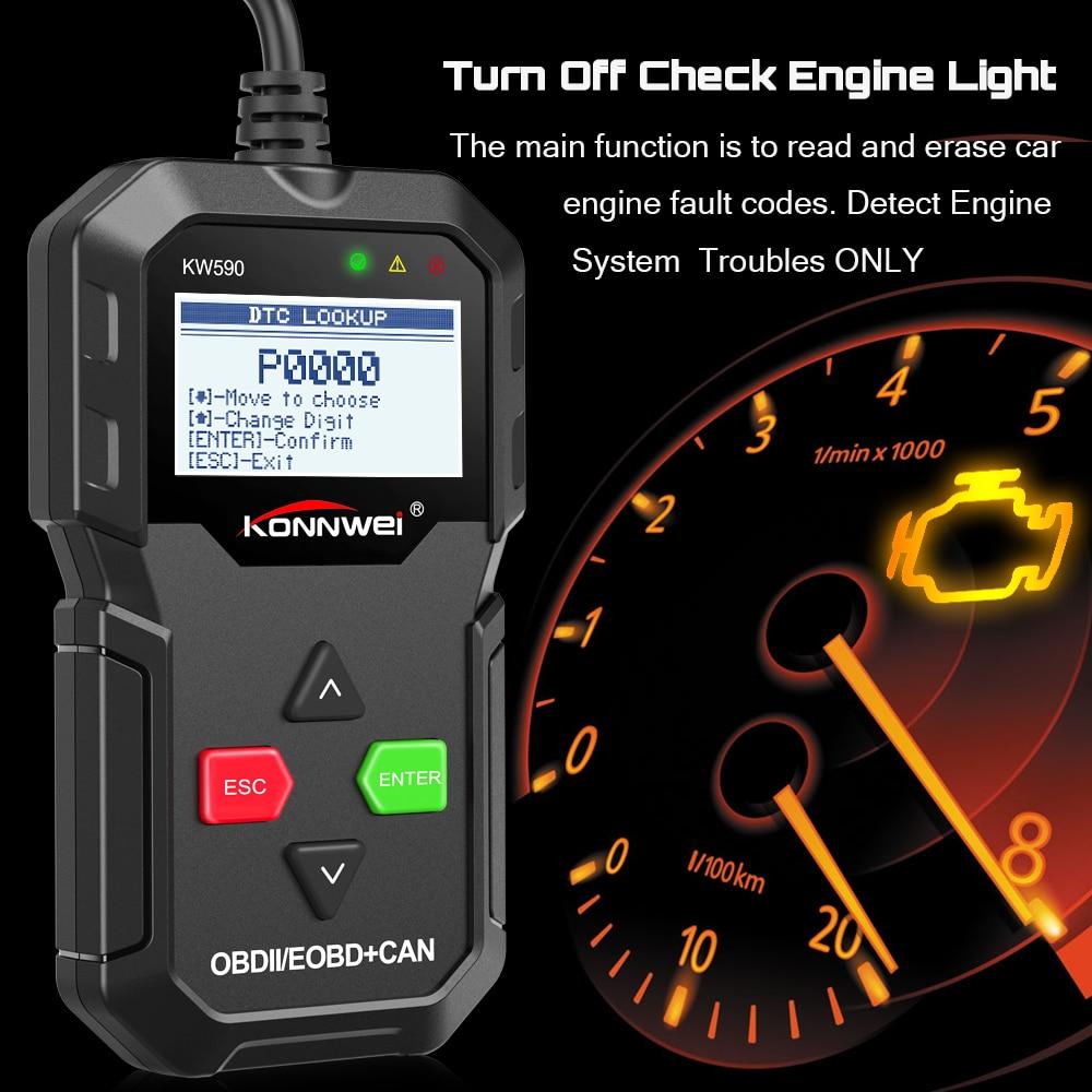2020 KW590 OBD2 Automotive Scanner OBD 2 Auto Diagnose-Tool Code Reader ODB2 Scanner Portugiesisch OBDII OBD 2 ODB PK ELM327 v 1,5