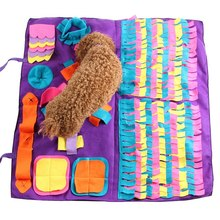 Dog Snuffle Splicing Mat, Small-Large Dogs Nosework/Playground Toy Blanket, Pet Sniffing Training Detachable Fleece Pads