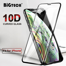 10D Curved Tempered Glass for iPhone 8 7 6s Plus Full Cover Edge View Protective XR X XS Max Vaso
