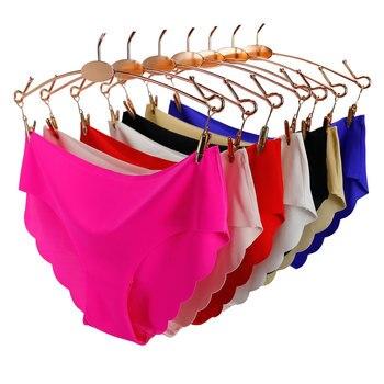 Solid Seamless Panties Low-Rise Panties Female Sexy
