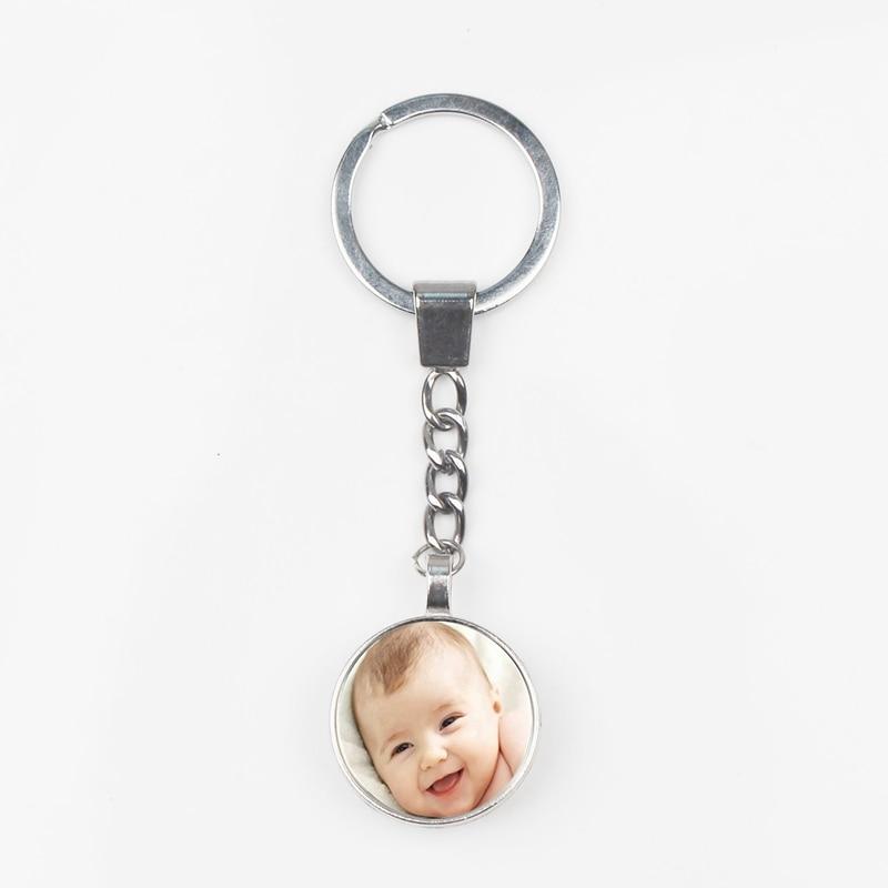 New Custom Double-sided Personality Keychain Baby Parent-child Photo Keychain Calendar Keychain Bag Charm Gift DIY Handmade