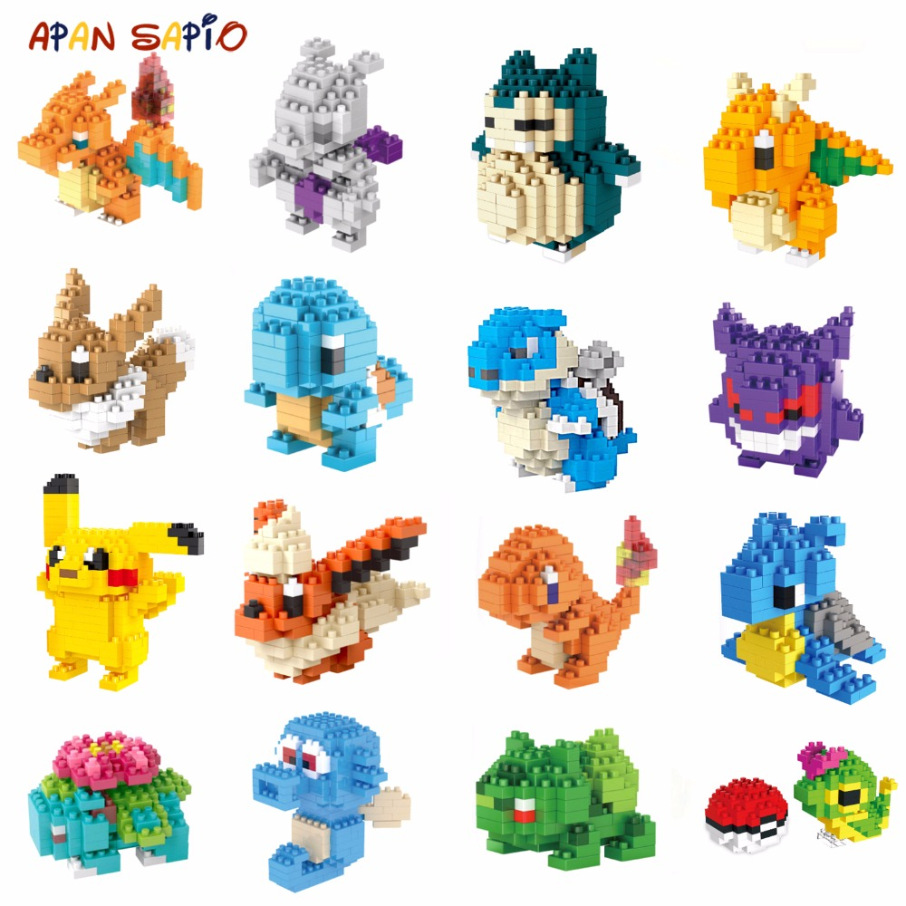 Mini Building Blocks Brick Cartoon Character Animals Model Educational Games Toys For Children