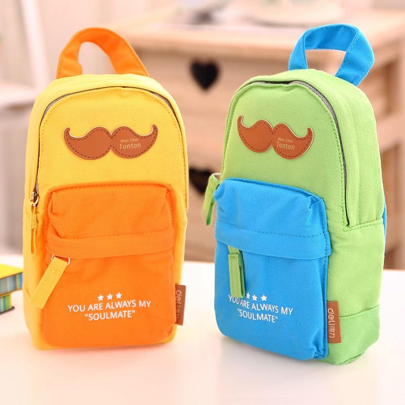 Deli 1pcs School Bag Pencil Bag Cute Pencil Case Rewarding Gifts For Kids Children Office School Supplies