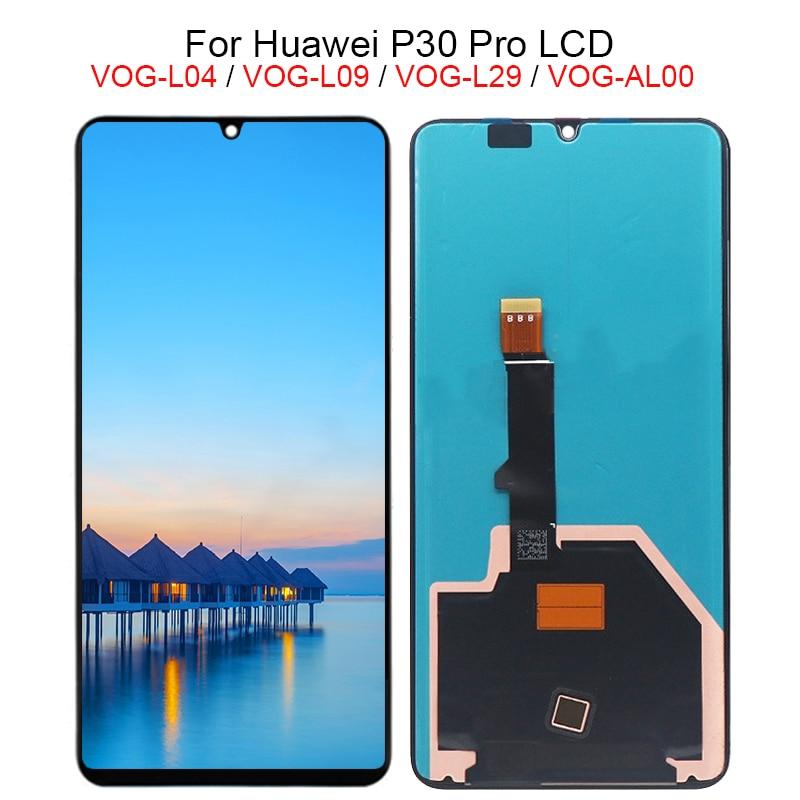 Pour Huawei P30 Pro D'assemblée de convertisseur analogique-Numérique D'écran Tactile d'affichage à cristaux liquides de VOG-L04 VOG-L09 VOG-L29 VOG-TL00 Affichage Pour Huawei P30Pro D'affichage À CRISTAUX LIQUIDES