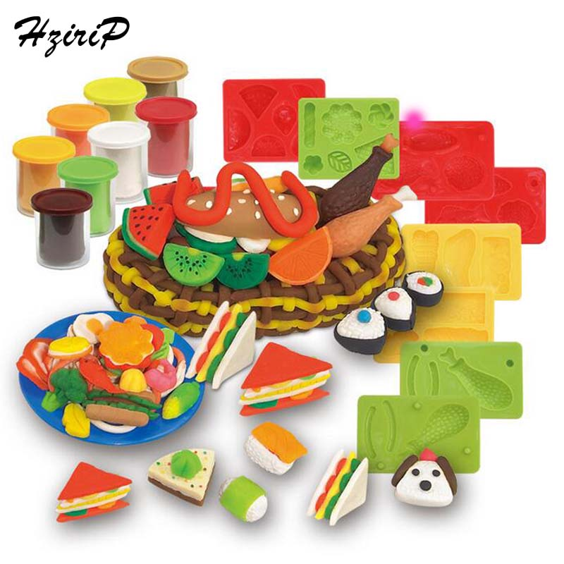 HziriP 23Pcs / sett New Children Modeling Clay Toy Set Mat Colorful Plasticine Clay Suit Molds Slime Tool Set Kit For Kids Gifts