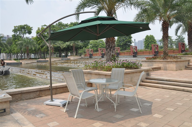 2.7 meter steel iron duplex sun umbrella patio umbrella garden parasol sunshade outdoor cover for coffee shop (no stone) 2 7 m outdoor umbrellas patio umbrella column banana straight with a hand of iron