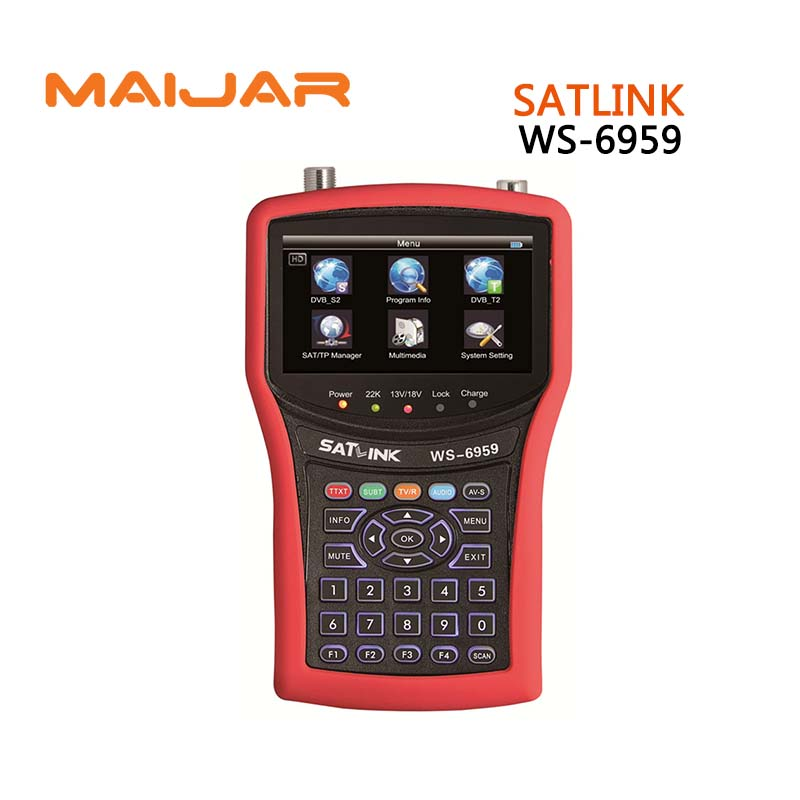 Original Satlink WS-6959 DVB-S/DVB-S2 &DVB-T/DVB-T2 COMBO Satellite Finder ws6959 Satellite meter ws6959 better Sathero models [genuine] satlink ws 6960 dvb s