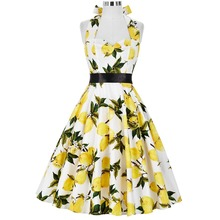 Sexy Summer Women Dresses 2017 Audrey Hepburn Big Size Gowns Floral 50s 60s Vintage Robe Rockabilly