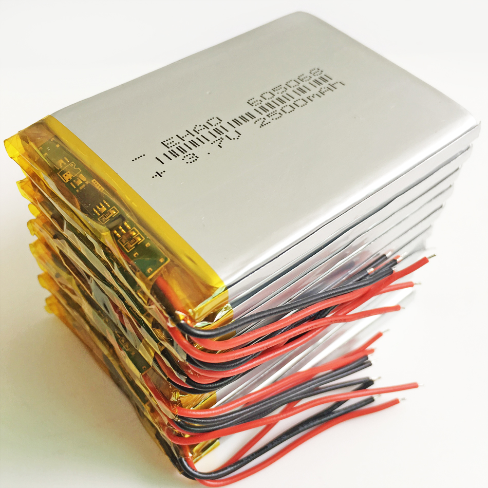 10 pcs <font><b>3.7V</b></font> <font><b>2500mAh</b></font> Lithium Polymer <font><b>LiPo</b></font> Rechargeable <font><b>Battery</b></font> For Power Bank Tablet PC Notebook 7