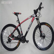 Beteery carbon bicycle  high quality red & black color  China Carbon mountain Bicycle best price  for sale цена