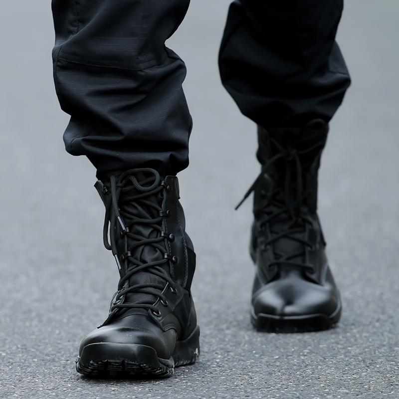 Outdoor Black Military Combat Boots Lightweight Tactical ...