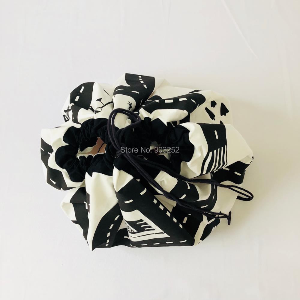INS Детский круглый шоссейный игровой коврик Многофункциональный портативный хранение детских игрушек сумка Детский ползающий круглый ковер домашние украшения для комнаты