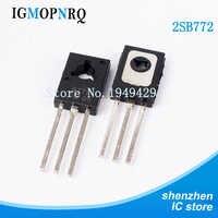 50 unids/lote Transistor triodo B772 2SB772-126 3A/40V PNP triodo de potencia nuevo