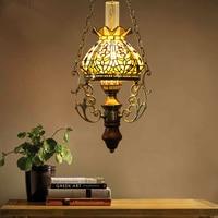 Витражи Ретро керосин подвеска свет ресторан бар лампа кафе бар подвесной светильник WL5031732
