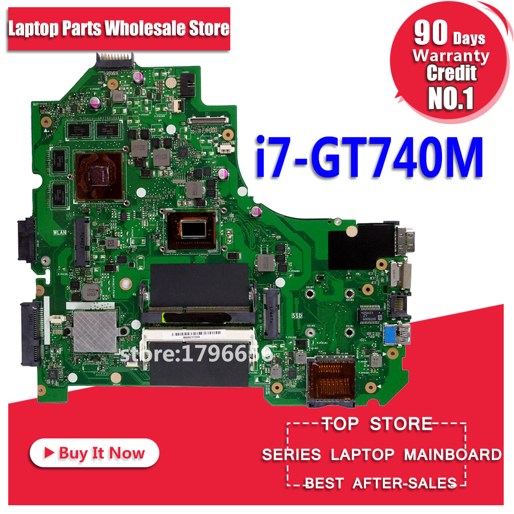 i7 CPU GT740M 2GB K56CM Motherboard For ASUS K56CB K56CM A56C S550CM Laptop Motherboard Mainboard Test S550C K56CM mainboard motherboard for asus k56cm s56c s550cm a56c laptop motherboard k56cm mainboard 987 cpu rev 2 0 integrated in stock