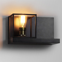 Nordic Loft Style Industrial Vintage Wall Light Fixtures Iron Wood Antique Lamp Bedside E27 Bulb LED Wall Sconce Home Lighting