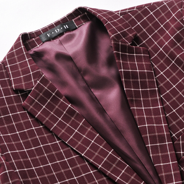 2016 New Arrival Men Blazer Plaid Slim Casual Fashion Business Formal High Quality Suit For Man Drop Shipping MWX214