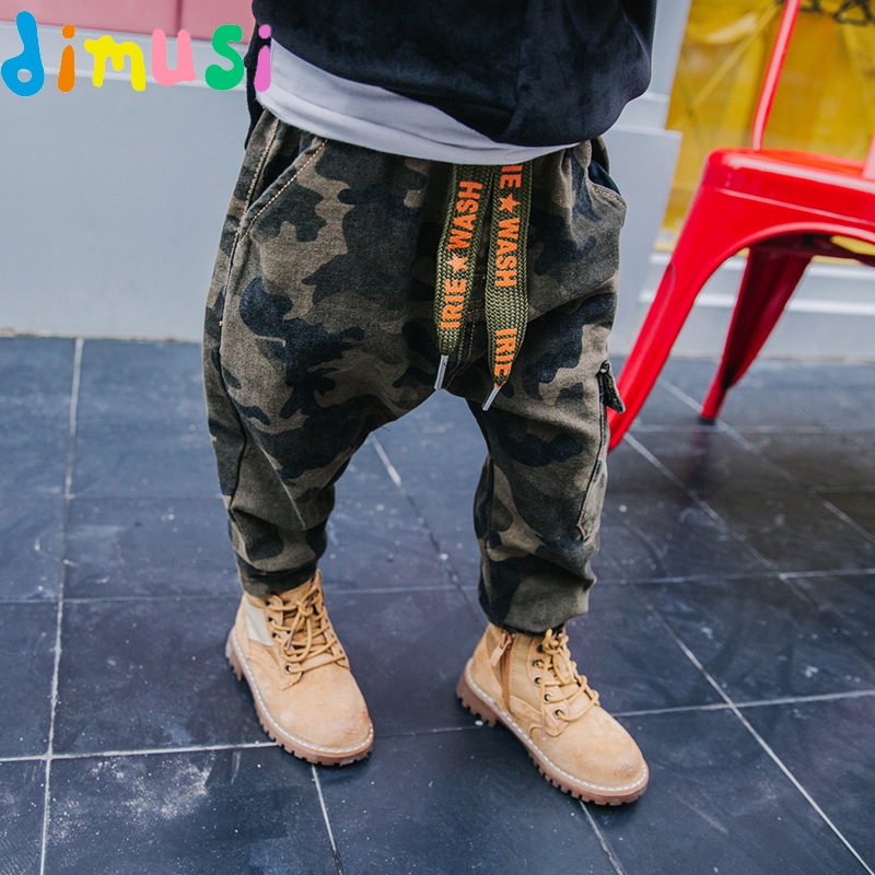 DIMUSI Childrens Pants Sweatpants Boys Camouflage Pants Cotton Long Teenage Boys Clothing Camo Pants Kids Trousers 10T,EA005