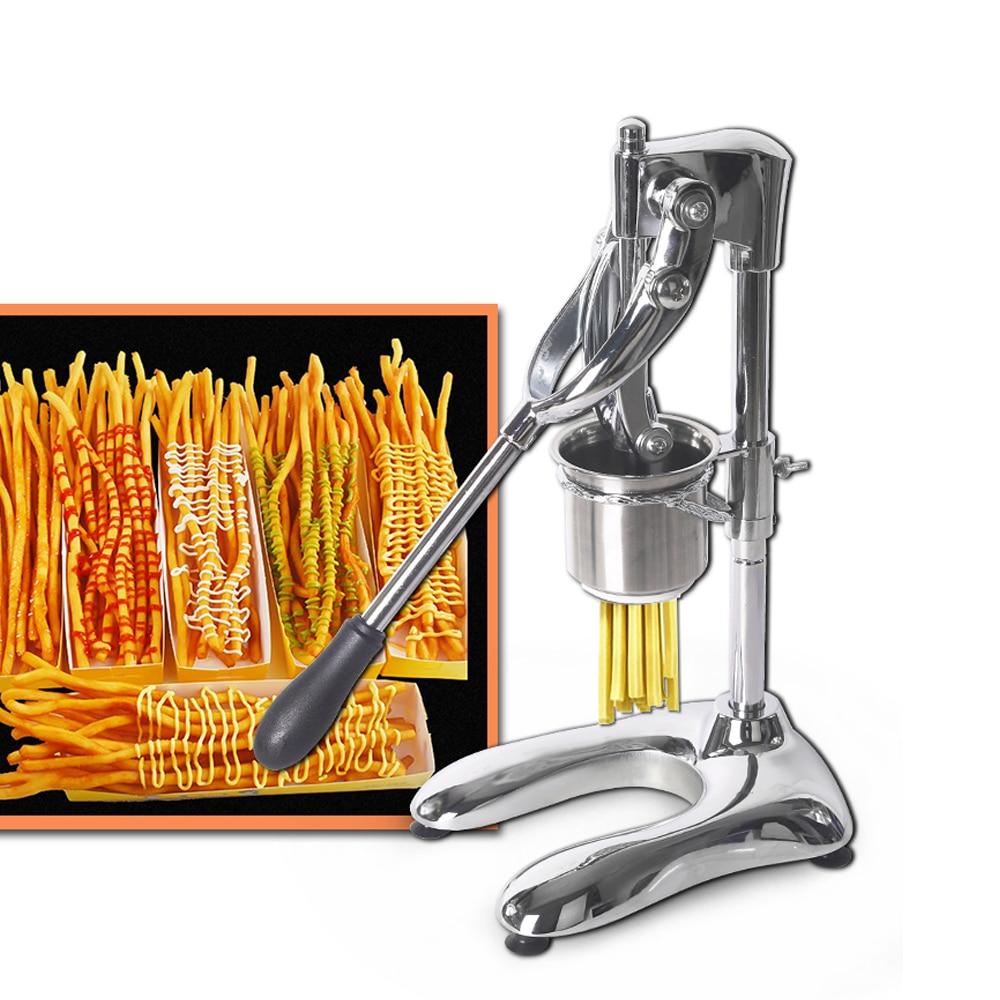 ITOP Commercial À Long 30 cm Navires De Pommes De Terre Squeezers Machine Français Manuel Coupe Fries Américain Frites De Pommes De Terre Puce