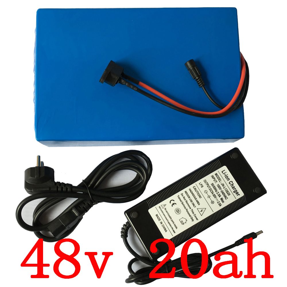 48V 1000W 1500W 2000W skútrová baterie 48v 20ah lithiová baterie 48v 20ah elektrický jízdní kolo s nabíječkou 54,6V doprava zdarma