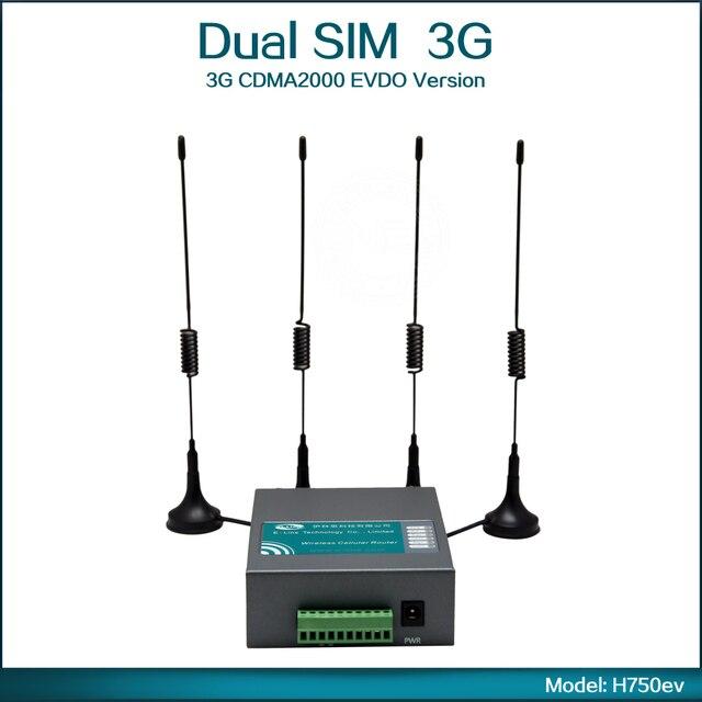 3G CDMA2000 EVDO Version Wifi Router with Dual Sim Card Slot ( Model: H750ev )