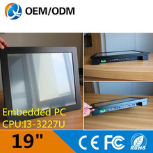 19 inch computer industry touch Resistive screen Resolution 1280×1024 pc with i3 1.9GHz cpu all in one pc