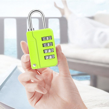 New luggage bag combination lock padlock can be equipped with wire rope safety 4-bit zinc alloy