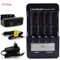 LiitoKala Charger Digital Battery Charger Battery Capacity Test 18650 26650 14500 10440 With Split / LCD Display Lii 500 DC 12V