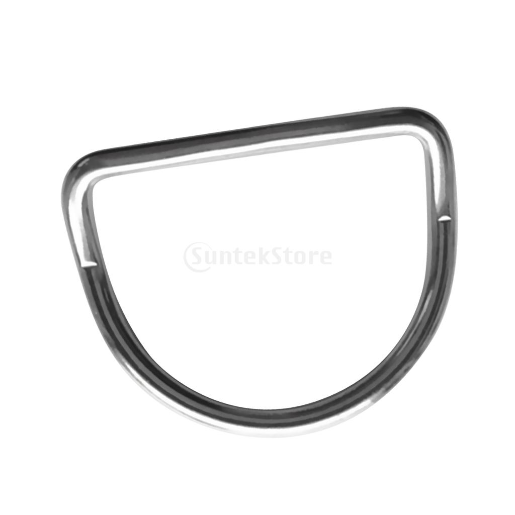 Diving Accessories Scuba Bent D Ring For 50mm Webbing Belts - Marine Grade 316 Stainless Steel