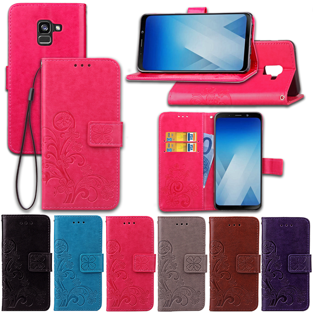 Luxury Flip Wallet PU Leather <font><b>Case</b></font> For <font><b>Samsung</b></font> Galaxy A8 Plus <font><b>2018</b></font> Phone Bag Card Holder Cover For <font><b>Samsung</b></font> <font><b>A7</b></font> <font><b>2018</b></font> <font><b>A730F</b></font> A730 image